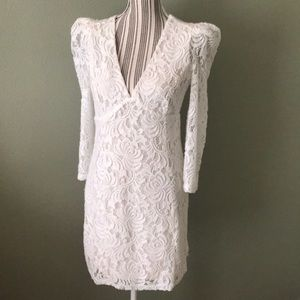 NEW Free People lace/crochet puff shoulder dress
